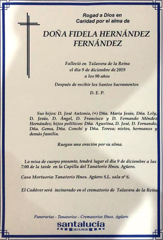 Fallece la madre del empresario talaverano Jesús Méndez