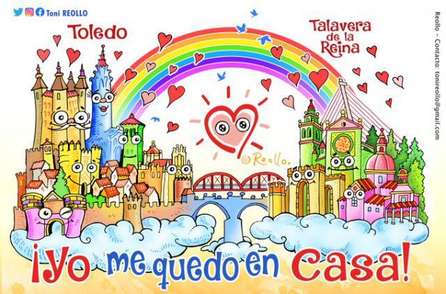 TALAVERA | El color, la alegría y el arte de Toni Reollo para superar al coronavirus
