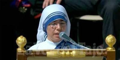 Una talaverana, Eva Aceituno, en la canonización de Santa Teresa de Calcuta
