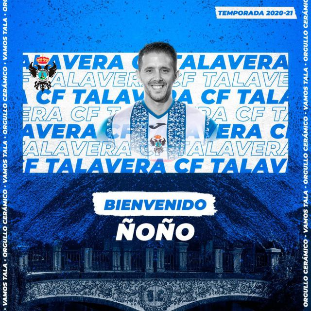 FÚTBOL   Ñoño nuevo fichaje del CF Talavera