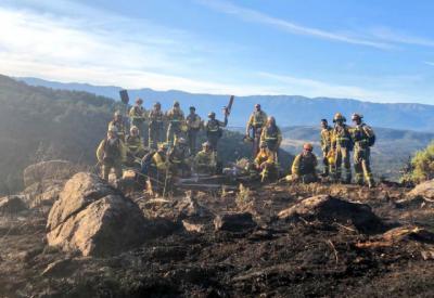 EL REAL DE SAN VICENTE   Este es el equipo del Brif La Iglesuela que lucha contra el fuego