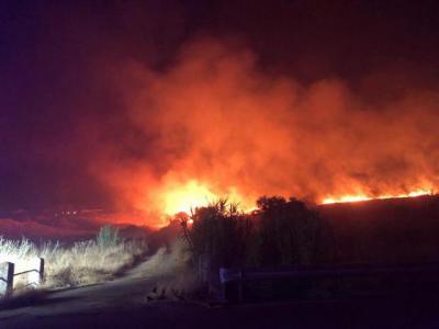 Incendio en Talavera de la Reina | Foto. Twitter @brif_iglesuela
