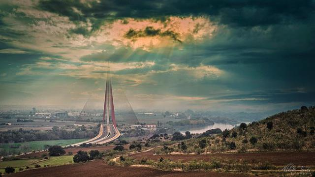 TALAVERA | 'Un amanecer distinto desde lo alto de Los Pinos', una foto que invita a soñar