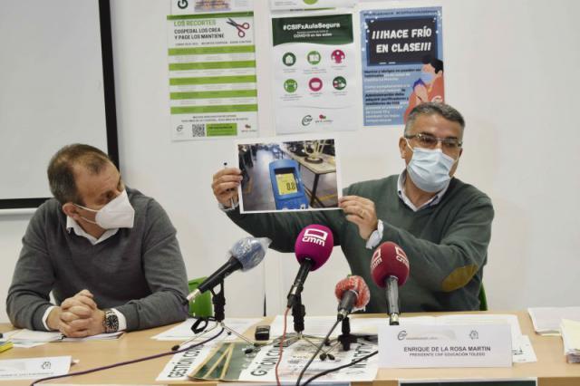 TALAVERA Y COMARCA   Denuncian 'falta de seguridad' para prevenir contagios Covid y 'frío en las aulas'