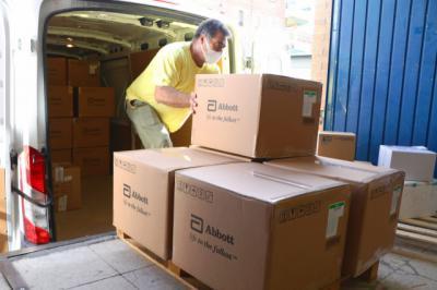 COVID-19 | Continúa la entrega de material
