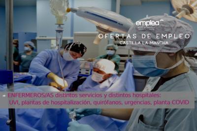 URGENTE | Se necesitan enfermeros/as para hospitales de Toledo y Ciudad Real