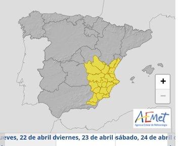 EL TIEMPO | Alerta por lluvias en Murcia, Almería y Alicante...