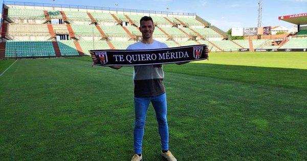 El Mérida hace público el fichaje del ex jugador del CFTalavera, Espinar