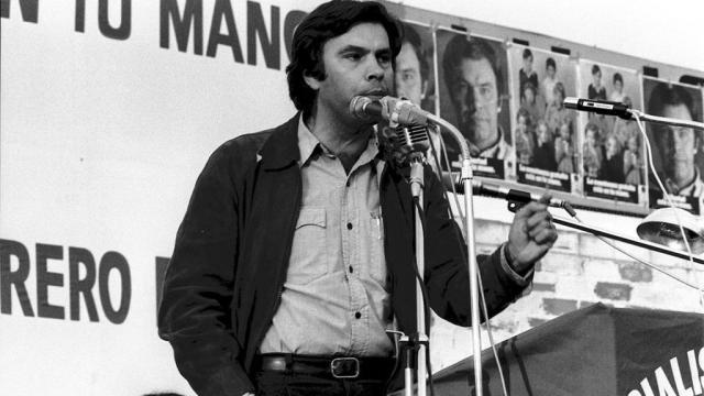 Imagen de Felipe González en 1977 en Talavera