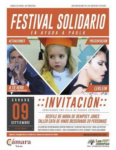 Festival solidario para ayudar a Paula