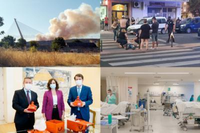 BUENOS DÍAS | CLM, Madrid y CyL, juntos contra el COVID mientras colean los incendios. Comienza el día bien informado