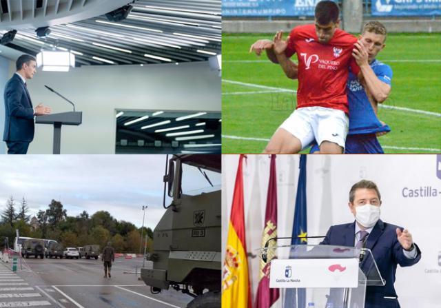 BUENOS DÍAS | ¿En que consiste el nuevo estado de alarma? Principales medidas, el CF Talavera cae en El Prado y las noticias más destacadas del domingo