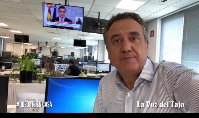 CORONAVIRUS | Roberto Brasero nos envía 'fuerza a Talavera' desde Antena 3 (VIDEO)