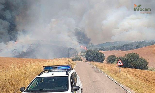 SUCESOS | Detenido el presunto causante del fuego de El Casar