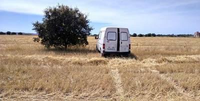 Hallan en Cazalegas un furgón robado en Sonseca el pasado día 11