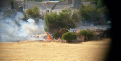 Arde la fábrica de tomate en Talavera