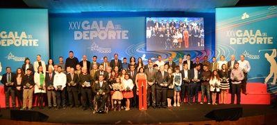 Foto de familia de la XXV Gala del Deporte
