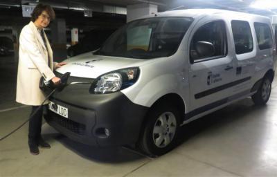 Adquirido el primer vehículo 100 por cien eléctrico del parque móvil de la Junta