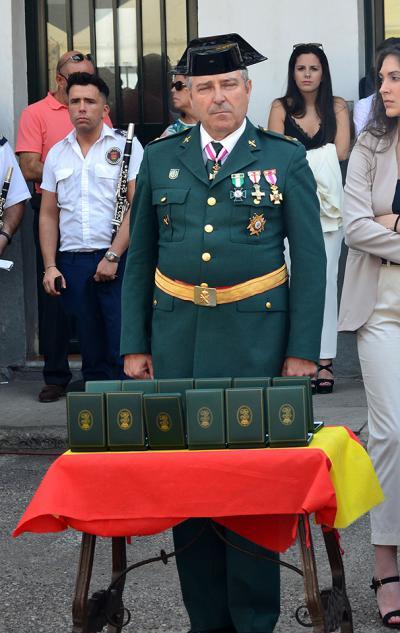 Los condecorados en Talavera en el día de la Patrona de la Guardia Civil