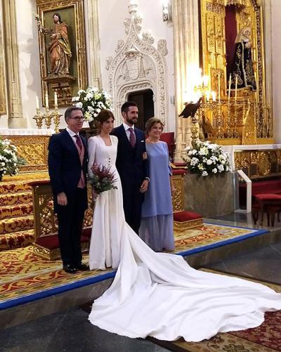 ENLACE | Sandra Galán y Txetxu Necochea contrajeron matrimonio en Los Jerónimos
