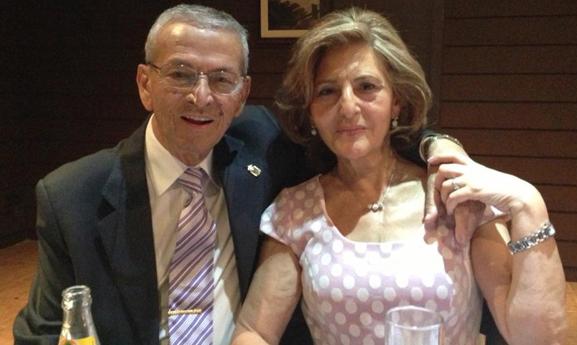 Lali Brasero, junto a su marido Ceferino León, en el Complejo Estoril.