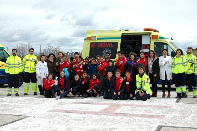 El Hospital de Talavera recibe a un grupo de alumnos del Colegio Clemente Palencia