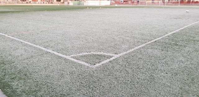 El hielo, el gran protagonista de los estadios de fútbol de Talavera
