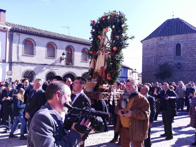 San Blas ante el ayuntamiento en 2019