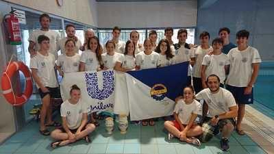 Gran actuación del Club Natación Aqüis en el provincial absoluto y grupo de edad