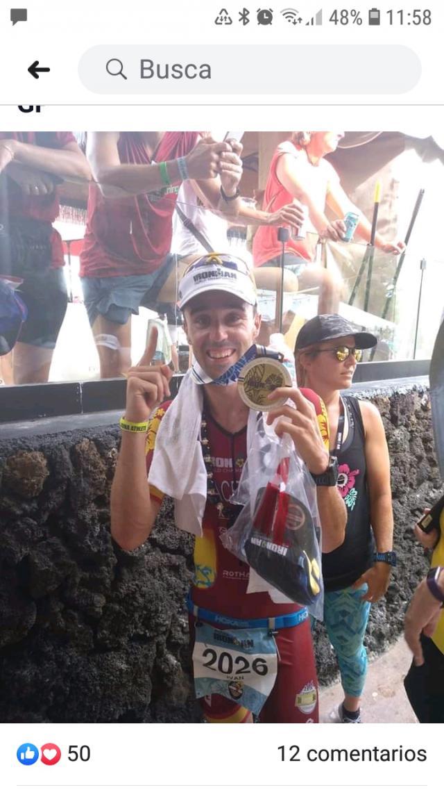 Iván Cáceres campeón del Mundo del GE 30-34 en Kona