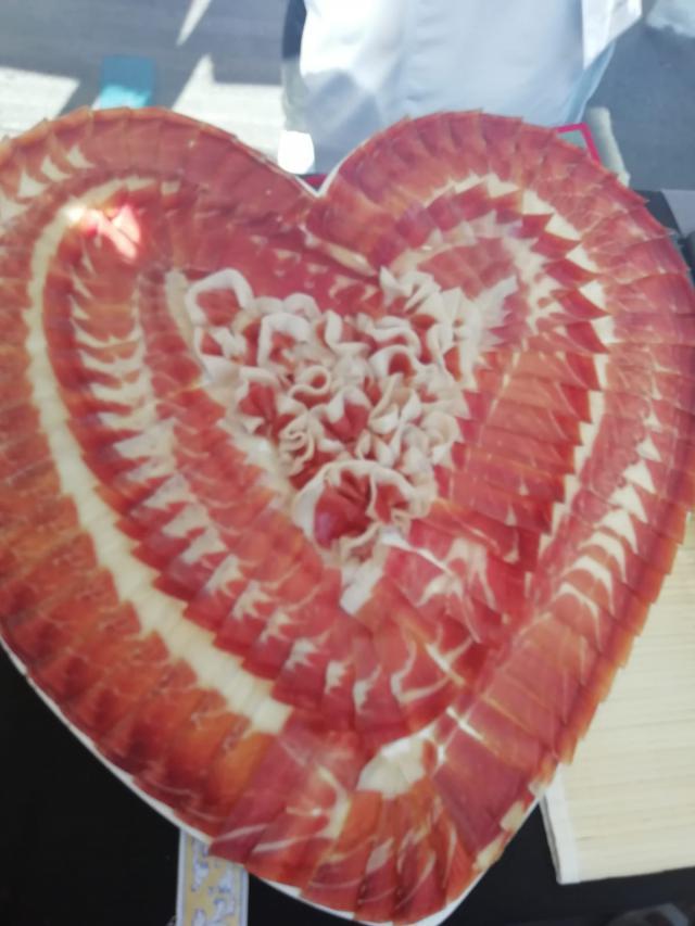 Corazón de jamón por el que se pagaron 65 euros.