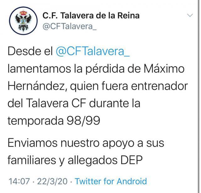 Comunicado del CF Talavera