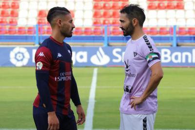 Márquez y Gonzalo en el amistoso que enfrentó a Don Benito y Extremadura el pasado 26 de septiembre. FOTO: HOY EXTREMADURA