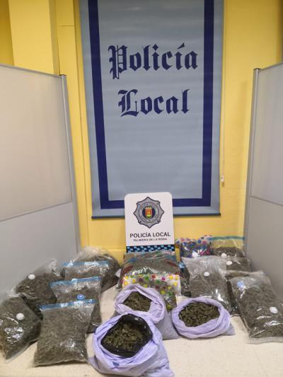 TALAVERA | Pillado con 26 kilos de marihuana en el coche tras un control de alcoholemia