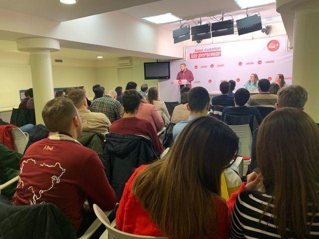 El Comité Regional de Juventudes Socialistas aprueba por unanimidad la gestión de la Ejecutiva Regional