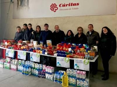 NNGG Toledo Ciudad entrega a Cáritas 2.200 kilos de alimentos y juguetes