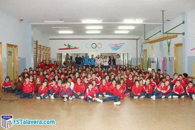 El Soliss FS Talavera visitó el Colegio 'Clemente Palencia' dentro de su iniciativa 'Aula Futsal'