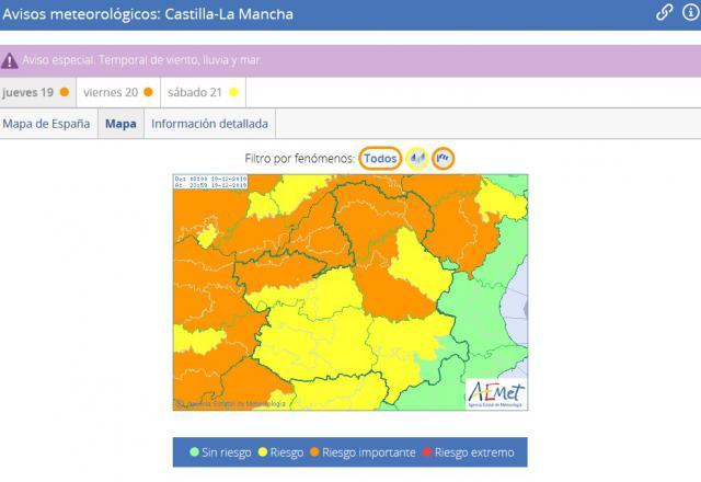 Alerta en Talavera y comarca por fuertes vientos