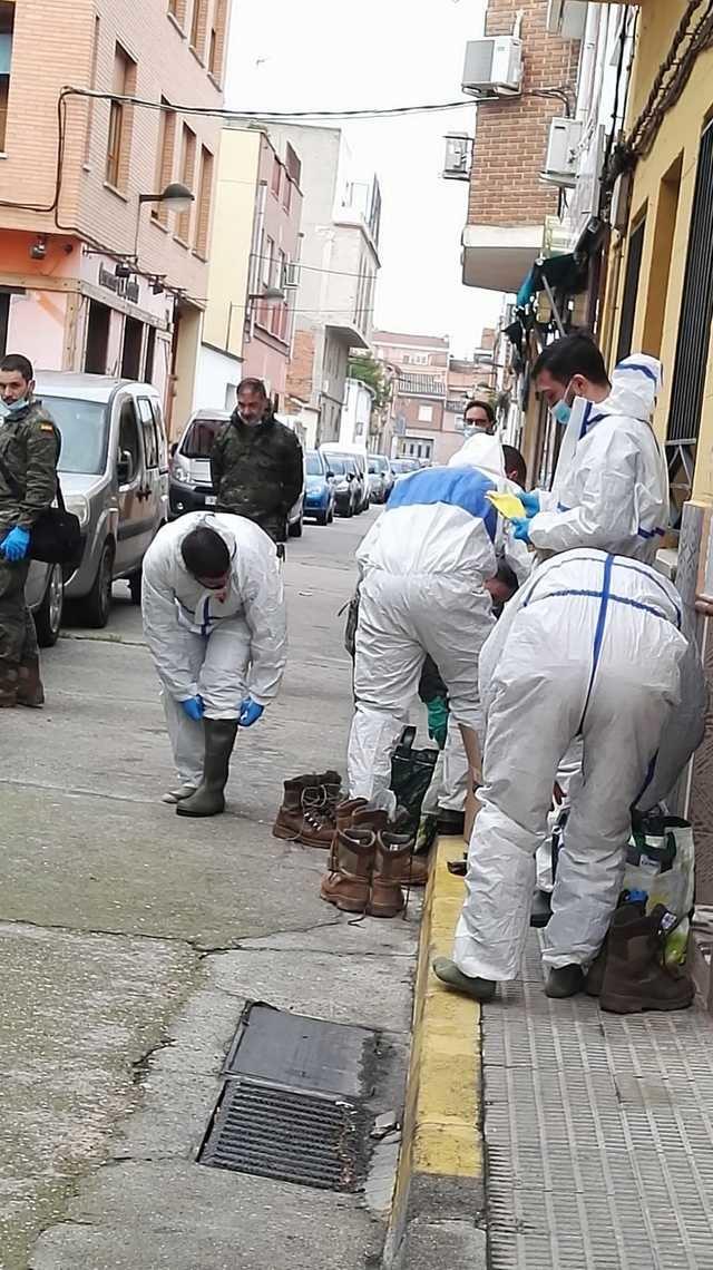 TALAVERA | Los militares desinfectan el albergue de Cáritas en Patrocinio