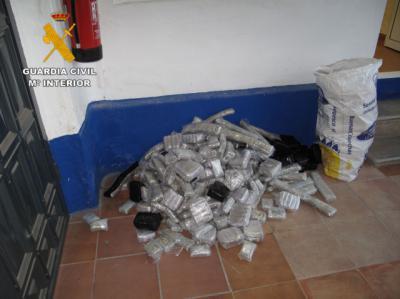 Detenido por portar 130 kilos de hachís