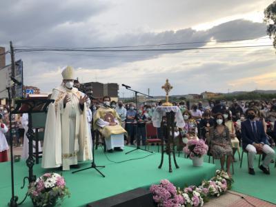 Así fue la bendición del nuevo monumento del Sagrado Corazón de Jesús
