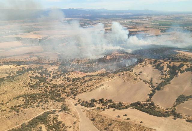 Situación actual del incendio en la Finca El Chorrillo en Las Herencias