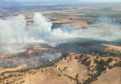 INCENDIO | Siguen sumándose fuerzas contra el fuego en Las Herencias: hasta 24 medios y 106 personas