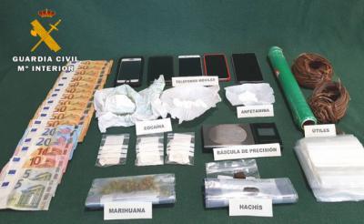 SUCESOS | Detenidos con 2.000 dosis de cocaína, marihuana, anfetaminas...