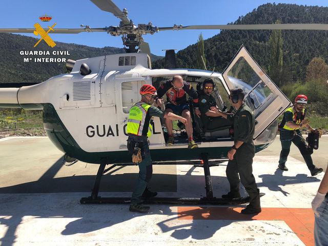 La Guardia Civil rescata a tres participantes de una prueba deportiva de trail