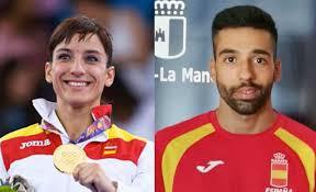 Sandra Sánchez y Raúl Cuerva en el Mundial de Karate de Linz