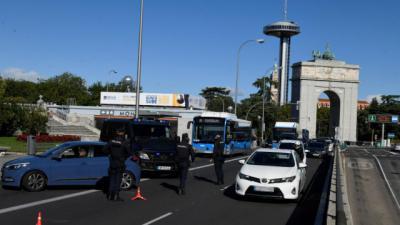Imagen de un control en la capital de España