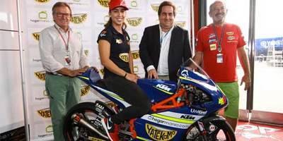 Karlos Arguiñano y Yatekomo patrocinarán a María Herrera en el Mundial de Moto GP