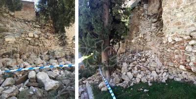 Un trozo de la muralla de Talavera se derrumba de madrugada