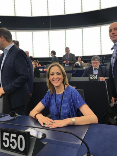 Cristina Maestre se estrena como eurodiputada